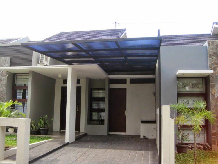 Desain Kanopi Rumah Minimalis 1 Tiang