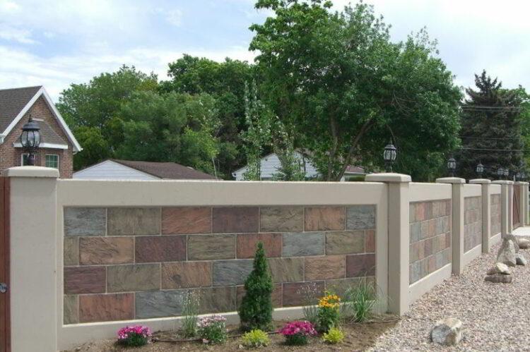 Model Pagar Tembok Mozaik