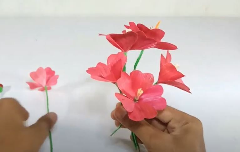 Langkah 14 Cara Membuat Bunga Anggrek Kulit Jagung
