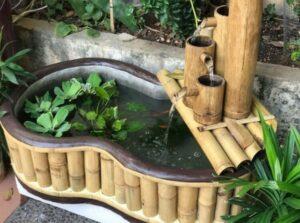 Kerajinan Air Mancur dari Bambu