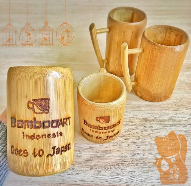 Kerajinan Gelas dari Bambu