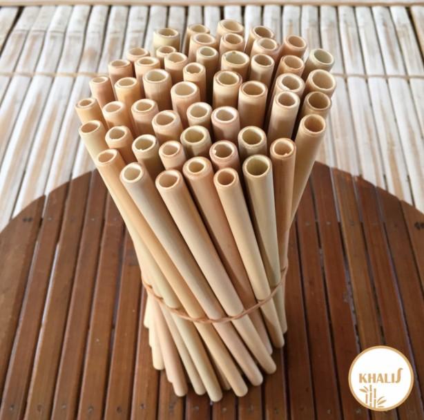 Kerajinan Sedotan dari Bambu
