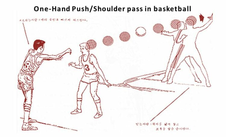One-Hand Push/Shoulder pass