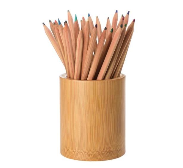 Kerajinan Tempat Alat Tulis dari Bambu