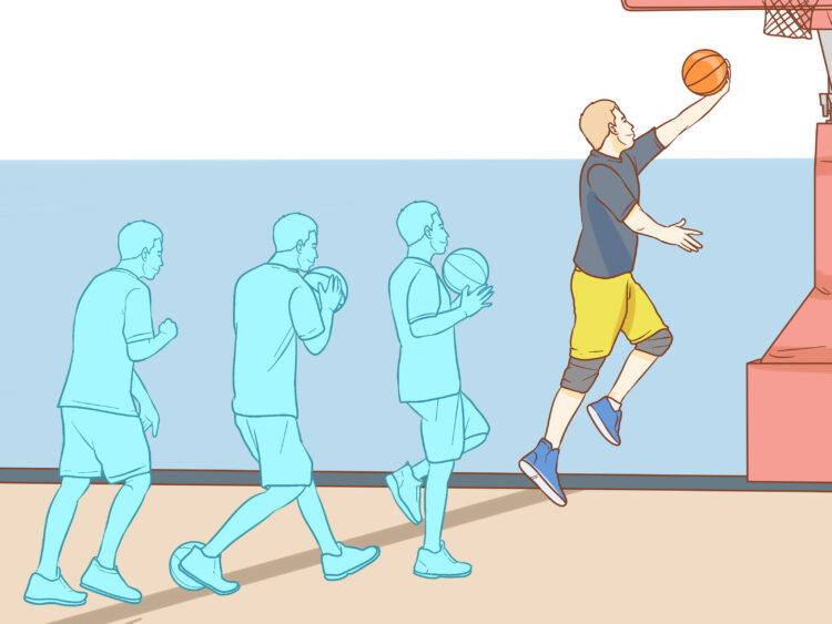 Lay-up bola basket